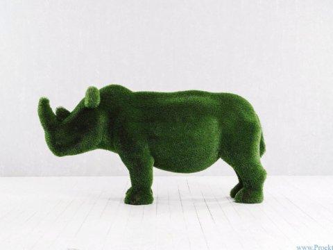 Садовая скульптура - Носорог маленький