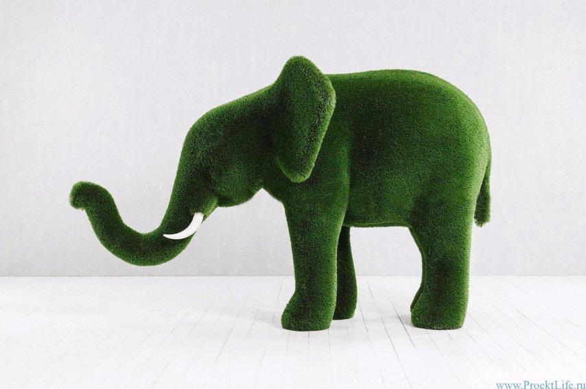 Садовая скульптура - Слонёнок
