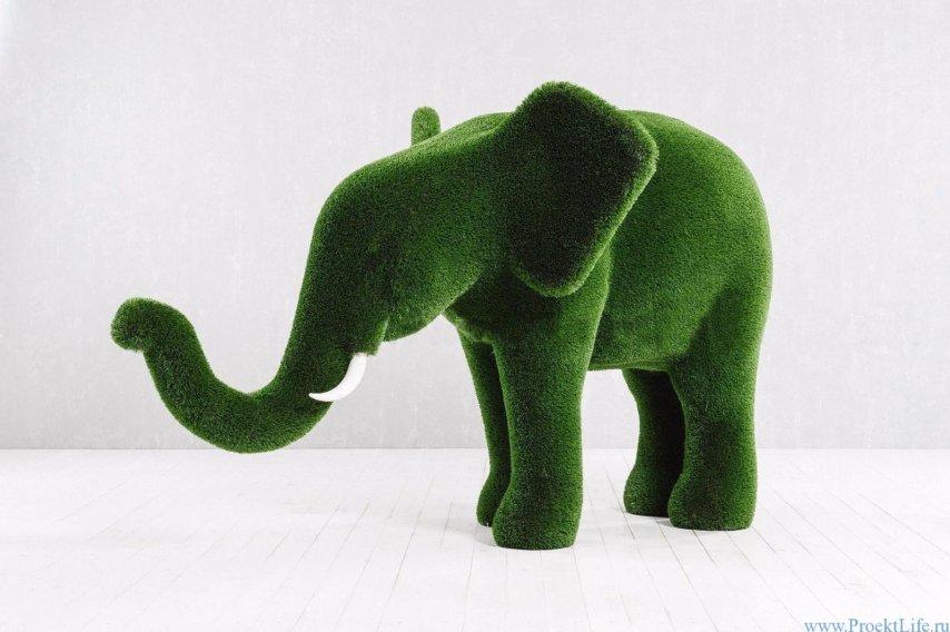 Садовая фигура - Слонёнок