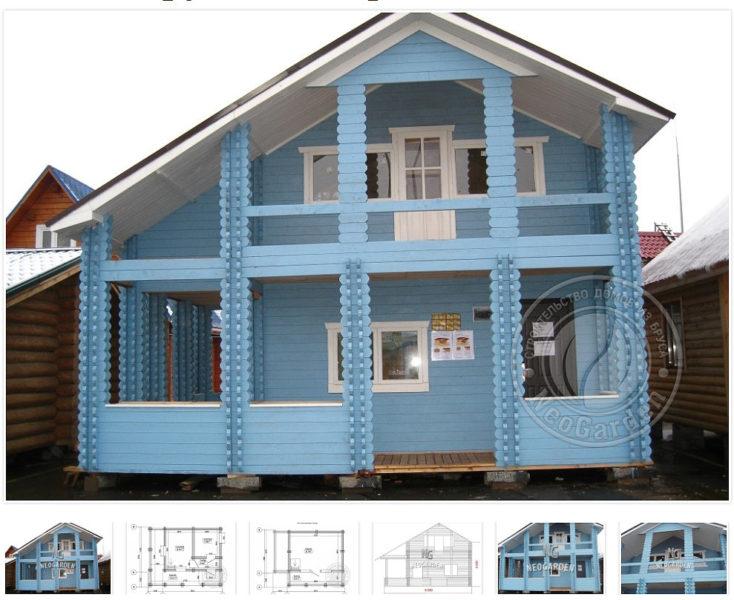 Недорогие дома из двойного бруса