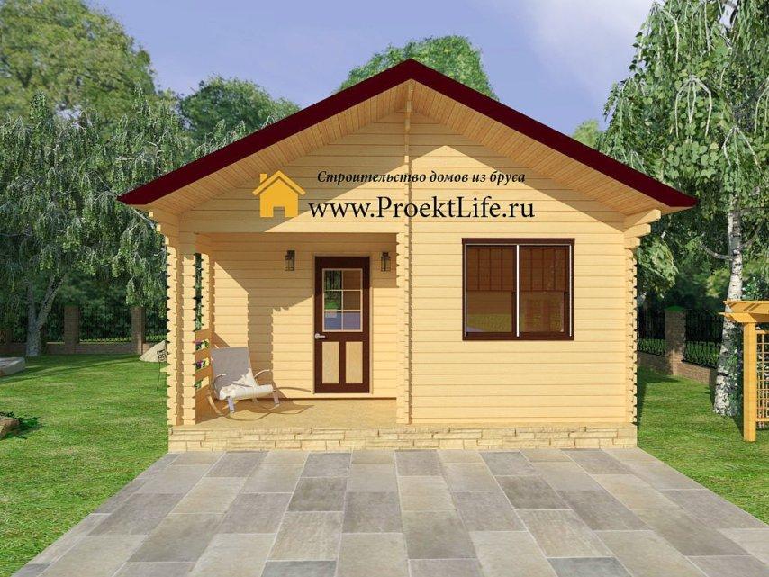 """Дачный домик из мини-бруса """"Псков"""""""