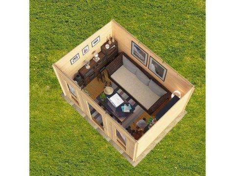 """Садовый домик из бруса """"СД-1"""" планировка"""