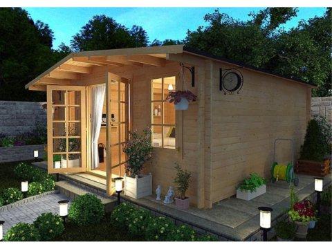 Дачный дом из мини-бруса