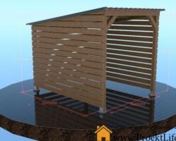 Как построить деревянный навес для дров своими руками