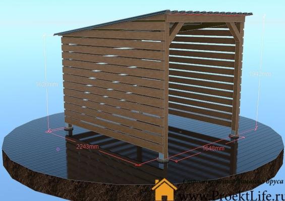 Как построить деревянный навес для дров