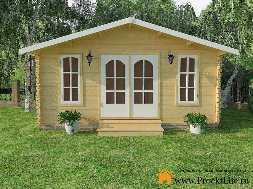 Дачный домик из профилированного бруса «Рязань»