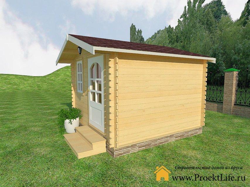 Садовый домик из минибруса