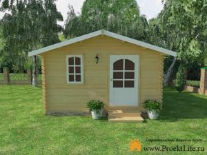 Садовые деревянные домики из бруса под ключ - Садовые деревянные домики из бруса под ключ: комфорт по доступной цене - 6 2 min 300x225