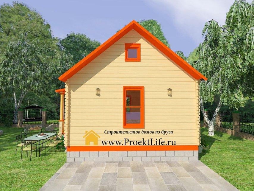 Дачный дом из мини-бруса под ключ
