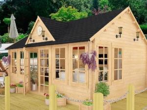 Садовые деревянные домики из бруса под ключ - Садовые деревянные домики из бруса под ключ: комфорт по доступной цене - dachnyydomik6 1 min 1024x768 min 300x225