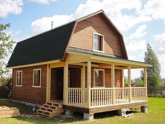 Строительство дачных домов из бруса и мини-бруса