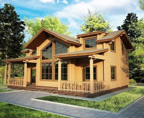 Недорогие дома из двойного бруса - Строительство домов из бруса и мини-бруса под ключ - dom 486x400