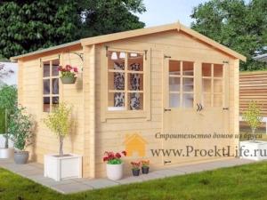 Садовые деревянные домики из бруса под ключ - Садовые деревянные домики из бруса под ключ: комфорт по доступной цене - 35 1 min 300x225