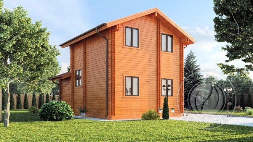 """Двухэтажный дом из двойного бруса """"Вермонт"""""""