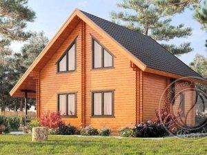 """Двухэтажный дом из двойного бруса """"Плаза"""""""