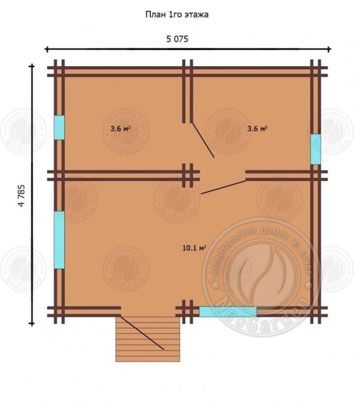 "план первого этажа ""Краун"""