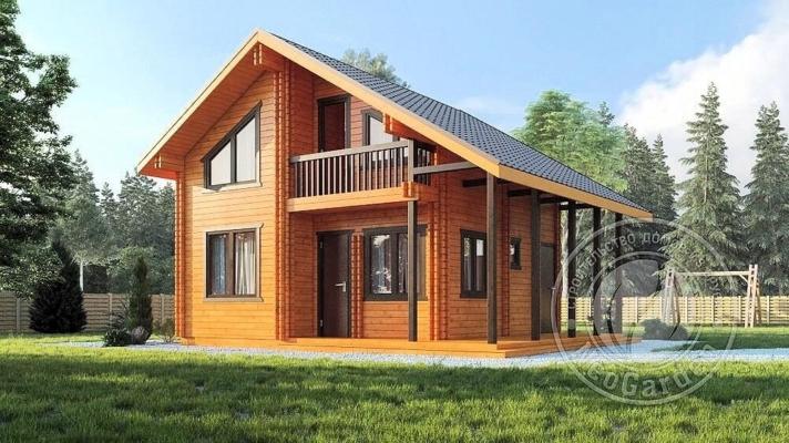 Строительство домов из бруса и двойного мини бруса под ключ