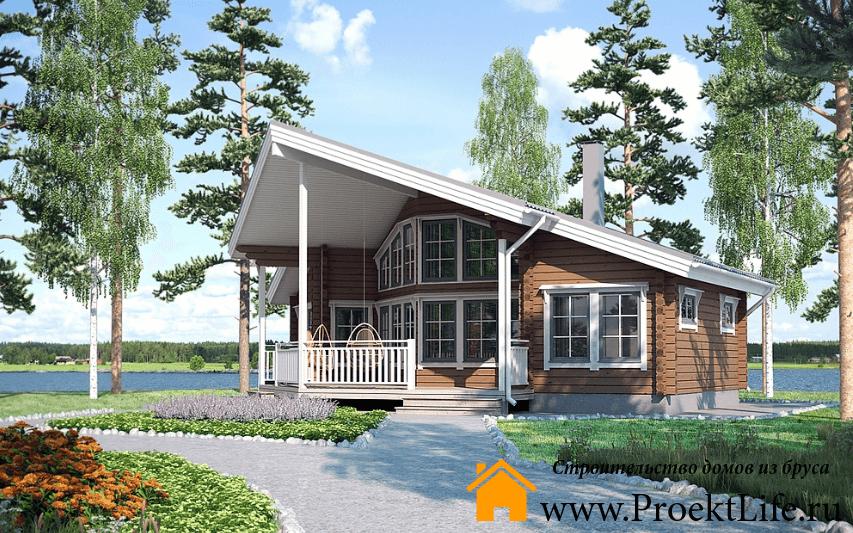 Недорогие дома из бруса под ключ до 500000 рублей