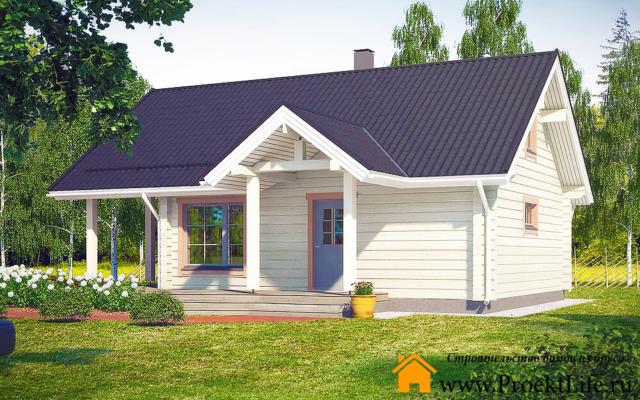 Недорогие дома из бруса под ключ до 500000