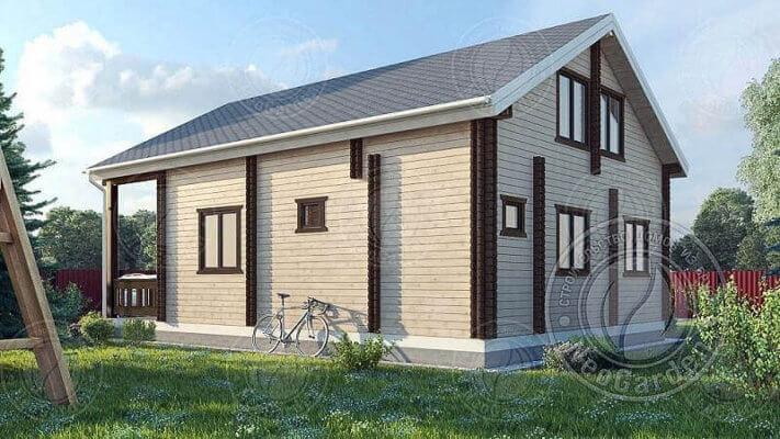 Одноэтажные дома из двойного бруса в Московской области