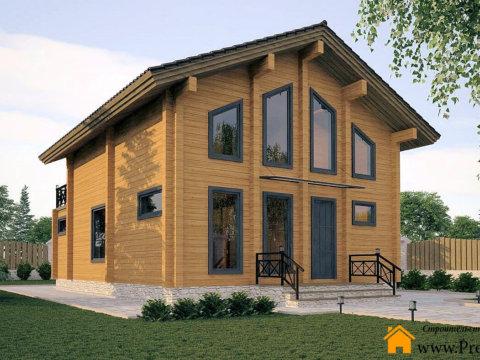 Двухэтажный дом из бруса Орфей